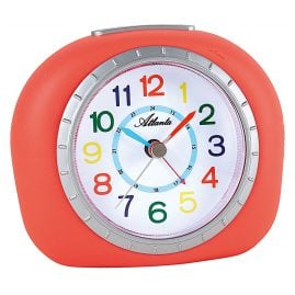 Atlanta 1966/1 Kids Alarm Clock with Silent Movement Orange