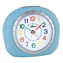 Atlanta 1966/5 Kids Alarm Clock with Silent Movement Blue