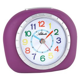 Atlanta 1966/8 Kids Alarm Clock with Silent Movement Purple