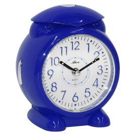 Atlanta 1985/5 Alarm Clock with Melody or Bell Sound Blue