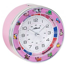 Atlanta 1982/17 Kids Alarm Clock With Sweep Movement Pink