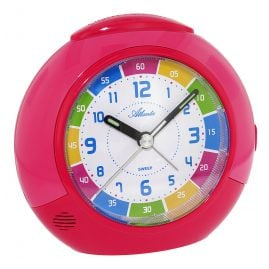 Atlanta 1678/17 Kinderwecker Rot/Pink