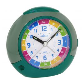 Atlanta 1678/6 Kids Alarm Clock Teal/Green