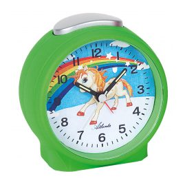 Atlanta 1981/6 Alarm Clock Unicorn Green