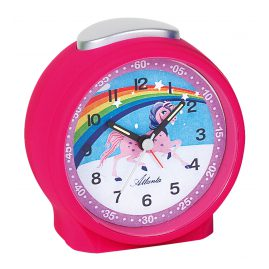 Atlanta 1981/17 Alarm Clock Unicorn Pink