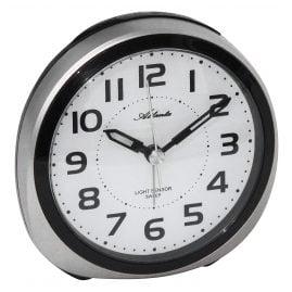 Atlanta 1954/19 Alarm Clock with Light Sensor Silver Tone