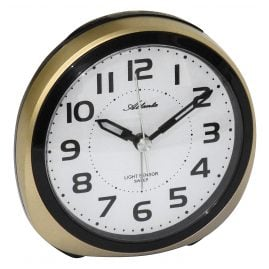 Atlanta 1954/9 Alarm Clock with Light Sensor Gold Tone