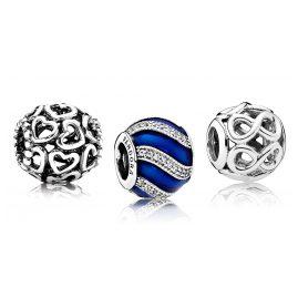 Pandora 08005 Charm-Set mit Blauen Ornamenten