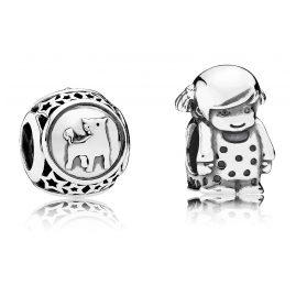 Pandora 08138 Charms Stier und Kleines Mädchen