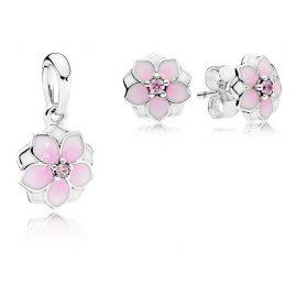 Pandora 08284 Pendant and Earrings Set Magnolia
