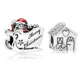 Pandora 08355 Charm Set Weihnachtsschlitten und Familienhaus
