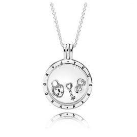 Pandora 08421 Locket Necklace Set Love Lock