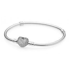 Pandora 590727CZ Damen-Armband mit Pavee-Herz