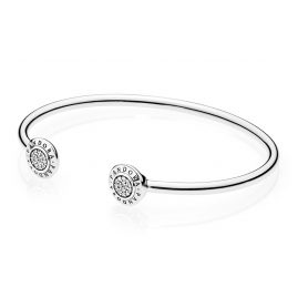 Pandora 590528CZ Ladies Bangle Pandora Logo