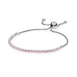 Pandora 590524PCZ Armband für Damen Funkelndes Band Rosa