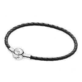 Pandora 590745CBK Damen Leder-Armband Schwarz