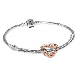 Pandora 08666 Armband-Set Beaded Heart Rose
