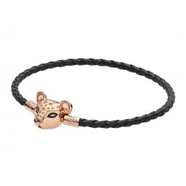 Pandora 588053CBK Rose Ladies´ Bracelet Moments Woven Lion