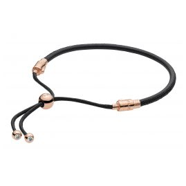 Pandora 588059CBK Rose Leather Bracelet Moments Sliding Black