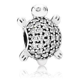 Pandora 791538CZ Silver Charm Sea Turtle