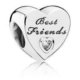 Pandora 791727CZ Charm Best Friends Heart