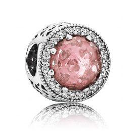 Pandora 791725NBP Charm Strahlenkranz der Herzen Rosa