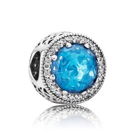 Pandora 791725NBS Charm Blue Aureola of Hearts