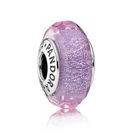 Pandora 791651 Muranoglas Charm Schillernd Lila Facetten