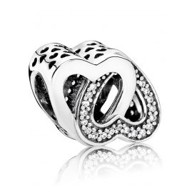 Pandora 791880CZ Charm Verschlungene Herzen