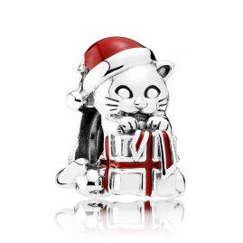 Pandora 792007EN39 Charm Weihnachts-Kätzchen