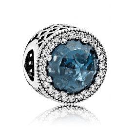 Pandora 791725NMB Charm Strahlenkranz der Herzen Mitternachtsblau