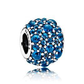 Pandora 791755NLB Charm Glitzernde Tröpfchen Blau
