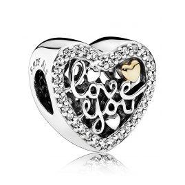Pandora 792037CZ Charm Love You