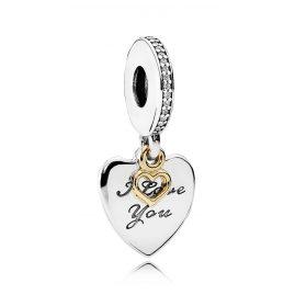 Pandora 792042CZ Charm Herz-Anhänger Love You Forever