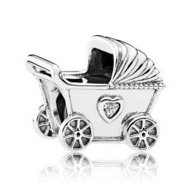 Pandora 792102CZ Charm Kinderwagen