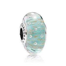 Pandora 791669 Charm Mintfarbenes Glitzerglas