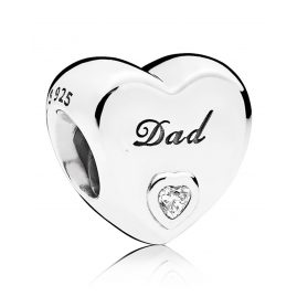 Pandora 796458CZ Charm Dad Herz