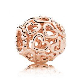 Pandora 780964 Charm Herzstrudel Rosé