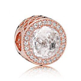 Pandora 781725CZ Charm Strahlenkranz der Herzen Rosé