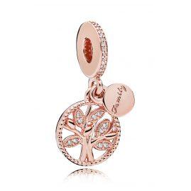 Pandora 781728CZ Charm-Anhänger Familien Stammbaum Rosé