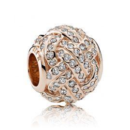 Pandora 781537CZ Charm Sparkling Love Knot Rose