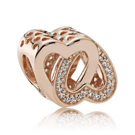Pandora 781880CZ Entwined Love Charm Rose
