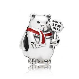 Pandora 796466EN39 Charm Weihnachts-Polarbär