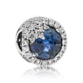 Pandora 796358NTB Charm Glanzvolle Schneeflocke Blau