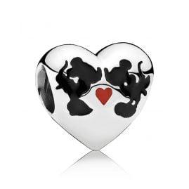 Pandora 791443ENMX Herz-Charm Micky & Minnie Forever