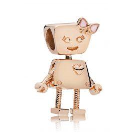 Pandora 787141EN160 Charm Roboter-Mädchen Rosé