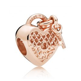 Pandora 787655 Rose Charm Love You Lock