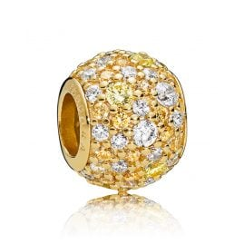 Pandora 767052CSY Shine Charm Golden Mix Pavé Ball