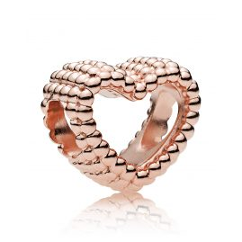 Pandora 787516 Rose Charm Beaded Heart