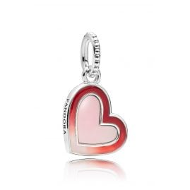 Pandora 797820ENMX Charm Pendant Asymmetric Heart of Love